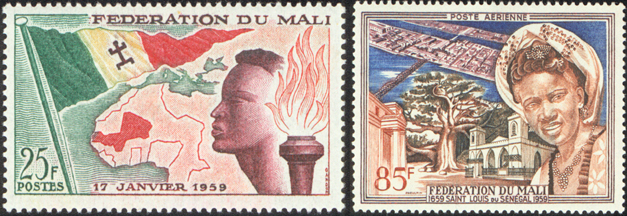 Independence Stamps of 1959 for the Mali Federation